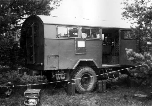 Massive Mercedes truck - the type we were trained on