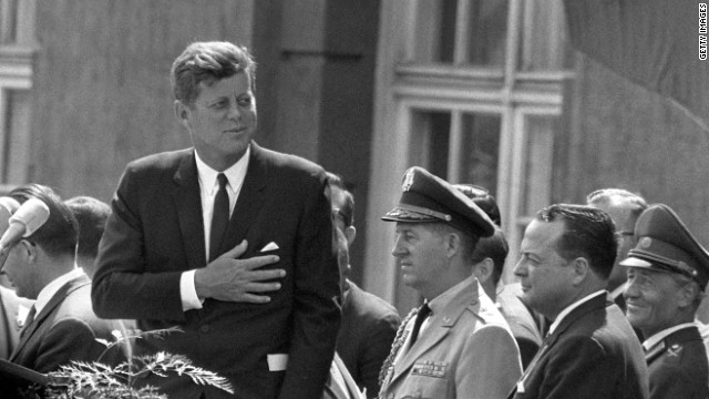 "President Kennedy, ""Ich bin ein Berliner"" - Photo Credit: cnn.com"