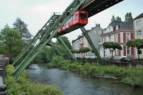 Floating Tram in Wuppertal - Photo Credit: wikipedia.org