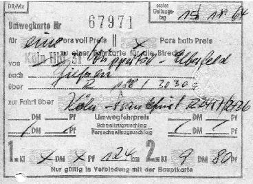 Return Ticket of November 15, 1964