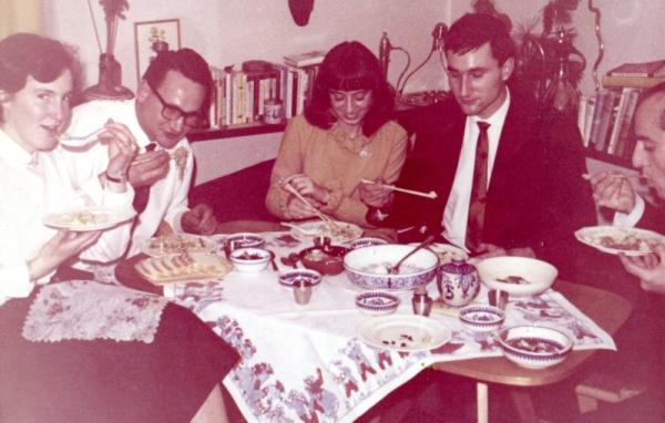 From left to right: Inge, Adolf, Biene, Peter and a Friend- January 1965