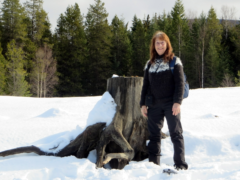 My Wife at our Winter Photo Shoot at Taite Creek