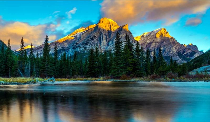 Pristine Lake in the Rockies