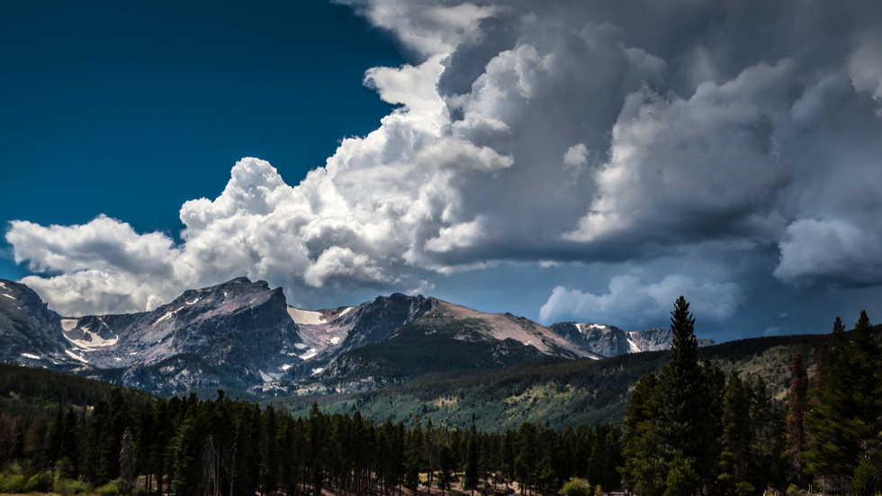 Storm Clouds over the Rocky Mountains